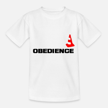 Obedience mit Pylone - Teenager T-Shirt