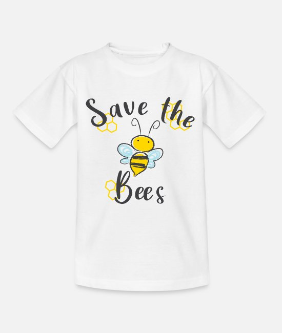 Imkerei T-Shirts - Save the Bees Rette die Bienen Bienenkönigin - Teenager T-Shirt Weiß