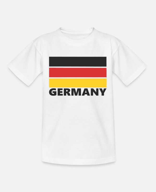 Fan Camisetas - Alemania, Alemania - Camiseta adolescente blanco