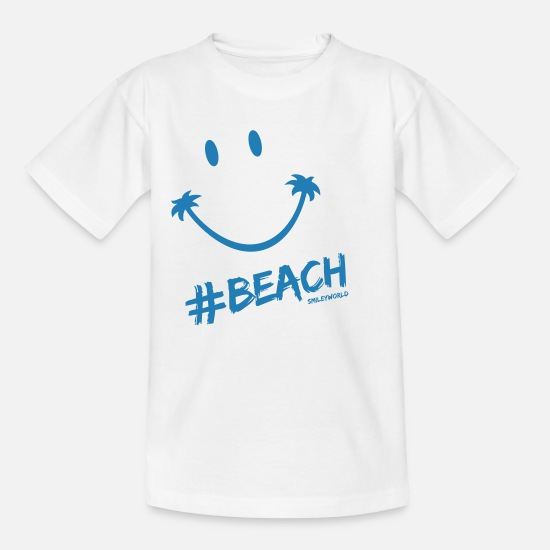 Smileys T-shirts - SmileyWorld Glitter Lets go to the #Beach - Teenager T-shirt wit