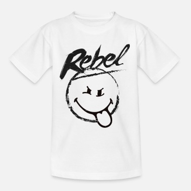 SmileyWorld Rebel - Teenage T-Shirt