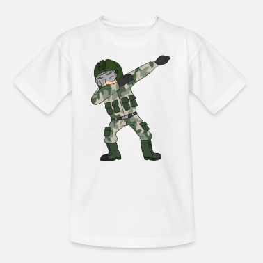 Fighter Dabbing military pilot / fighter pilot - Teenage T-Shirt