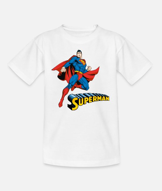 Movie T-shirts - Superman Move Pose teenager's T-shirt - T-shirt teenager hvid