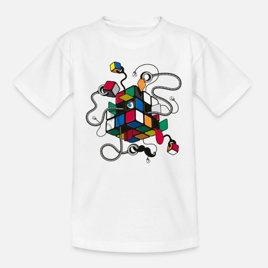 Cube T-shirts - Rubik's Cube Robot Style - Teenager T-shirt wit