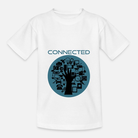 World T-Shirts - INTERNET CONNECT - Teenage T-Shirt white