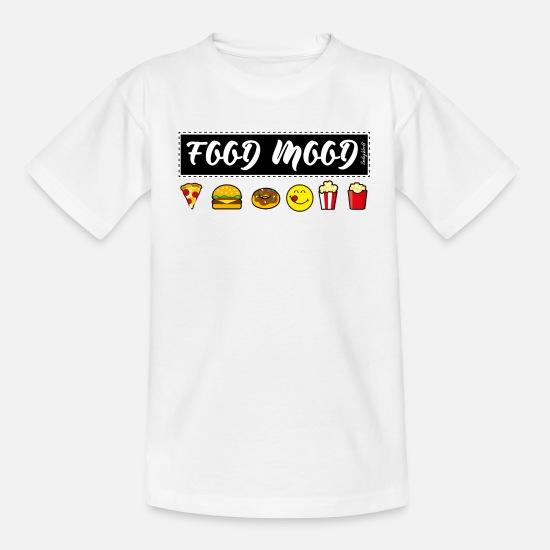 Fast Food T-Shirts - Smiley World Funny Junk Food Illustration - Teenage T-Shirt white