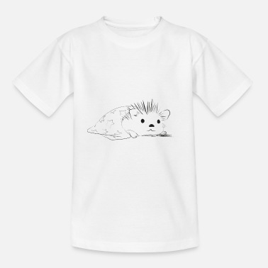 Cute hedgehog resting on the cover - Teenage T-Shirt