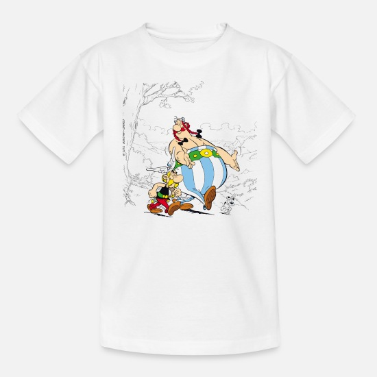 Elixir Camisetas - Asterix & Obelix Dogmatix Taking A Walk - Camiseta adolescente blanco