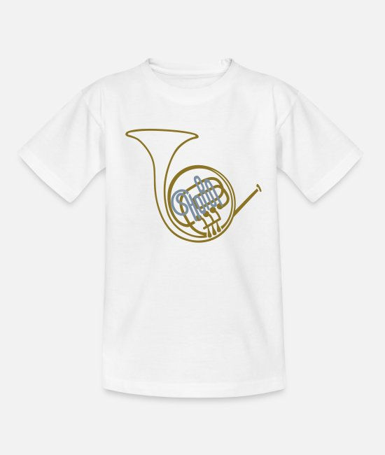 Big Band T-Shirts - Waldhorn II - Teenager T-Shirt Weiß
