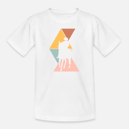 Western Horse T-Shirts - sheriff - Teenage T-Shirt white