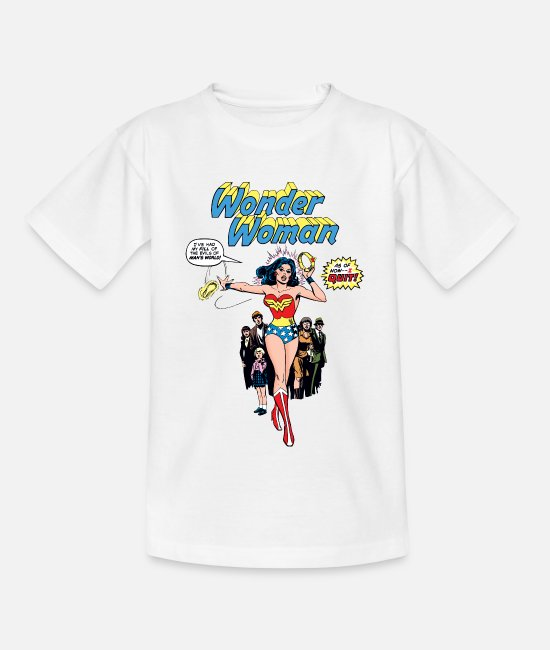 Superhero T-shirts - Wonder Woman Comic Style teenager T-shirt - Teenager T-shirt wit