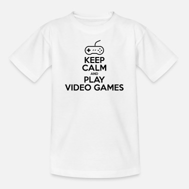 Keep calm and play video games - T-shirt Ado
