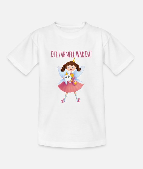 Fairy Tail T-Shirts - The tooth fairy was there fairy elven milk tooth gift - Teenage T-Shirt white