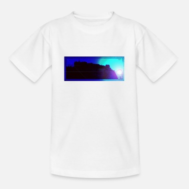 Silhouette of Edinburgh Castle - Teenage T-Shirt
