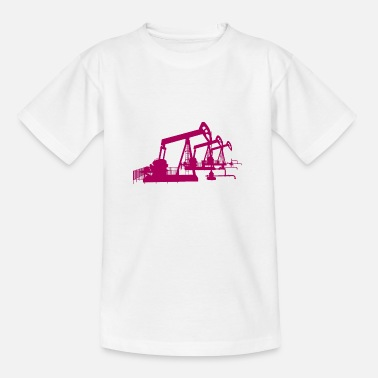 Oil Oil pumps, oil production, oil production, oil - Teenage T-Shirt