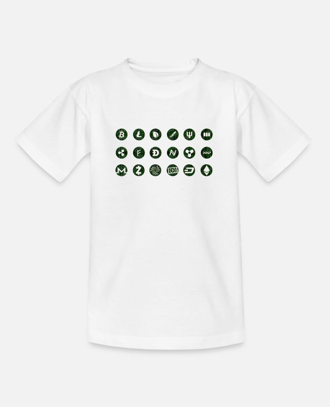 Beurs T-shirts - crypto Valuta - Teenager T-shirt wit