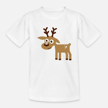 Reh Rentier Weihnachten Comic - Teenager T-Shirt