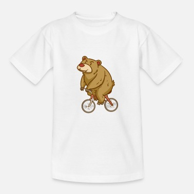 Bear - Biking - Sports - Gift - Teenage T-Shirt