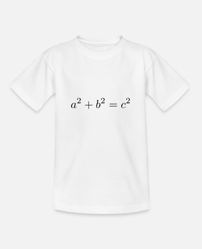 Maths T-Shirts - Pythagorean theorem - Teenage T-Shirt white