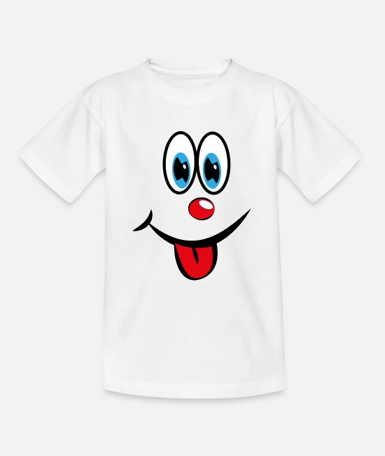 Take T-Shirts - Smiley with tongue - Teenage T-Shirt white