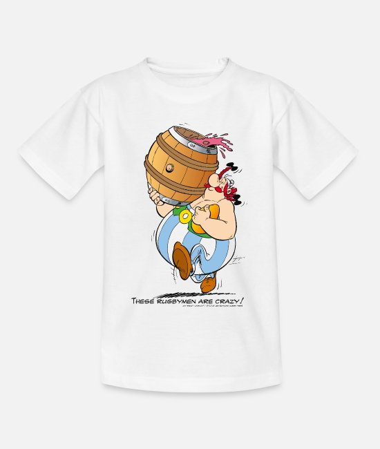 Wine T-shirts - Asterix & Obelix - These Rugbymen - Teenager T-shirt wit