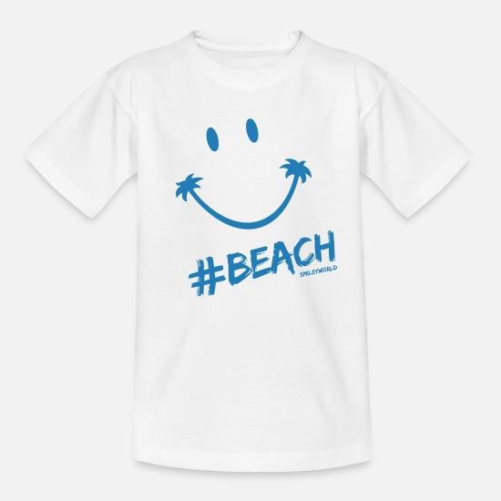 Smileys Magliette - SmileyWorld Glitter Lets go to the #Beach - Maglietta per teenager bianco