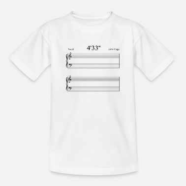 Cage 4'33'' John Cage - Teenager T-Shirt