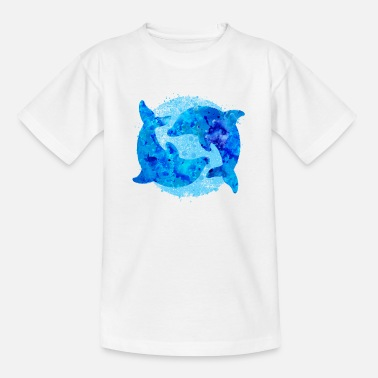 Dolphins (water colors) - Teenage T-Shirt