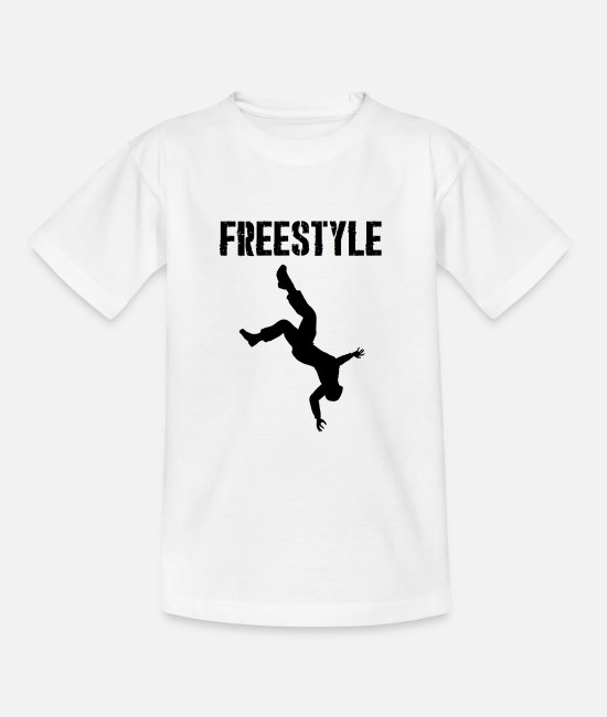 Freestyle T-Shirts - Freestyle, parkour, athletic, fitness, giftidea - Teenage T-Shirt white
