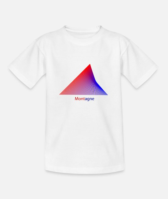 Mountains T-Shirts - Montagne - Teenage T-Shirt white