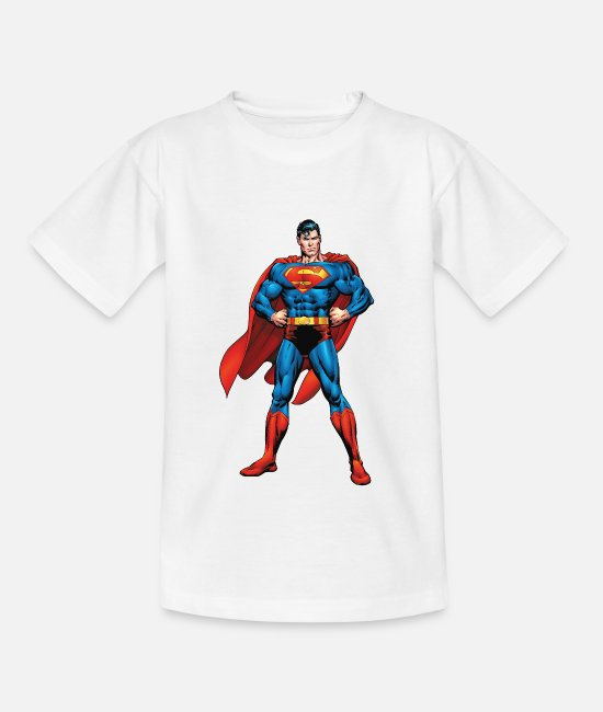 Superheroes T-shirts - Superman Classic Pose Teenager Longsleeve - T-shirt tonåring vit