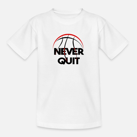 Gift Idea T-Shirts - Basketball Basketball Basketball Basketball - Teenage T-Shirt white