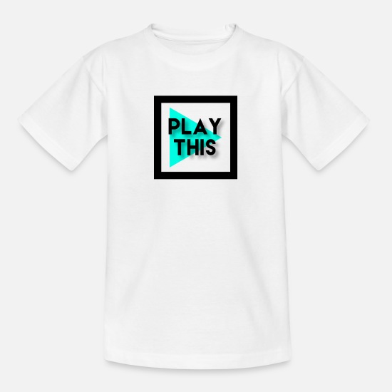Play T-Shirts - PLAYTHIS - Teenager T-Shirt Weiß