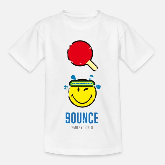 Sport T-shirts - SmileyWorld BOUNCE - T-shirt tonåring vit