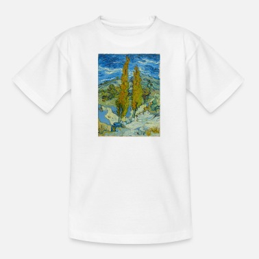 Rémy Vincent van Gogh - De populieren in Saint-Rémy. - Teenager T-shirt