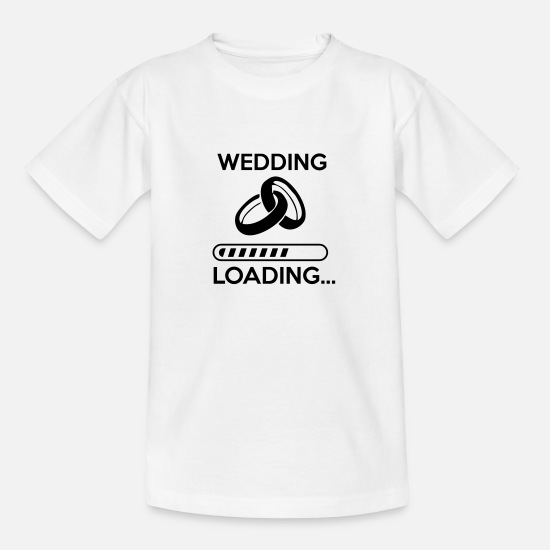 Mariage T-shirts - wedding loading - Stag do - hen party - T-shirt Ado blanc
