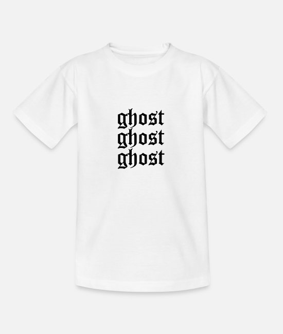 Tactics T-Shirts - Ghost ghost ghost - Teenage T-Shirt white