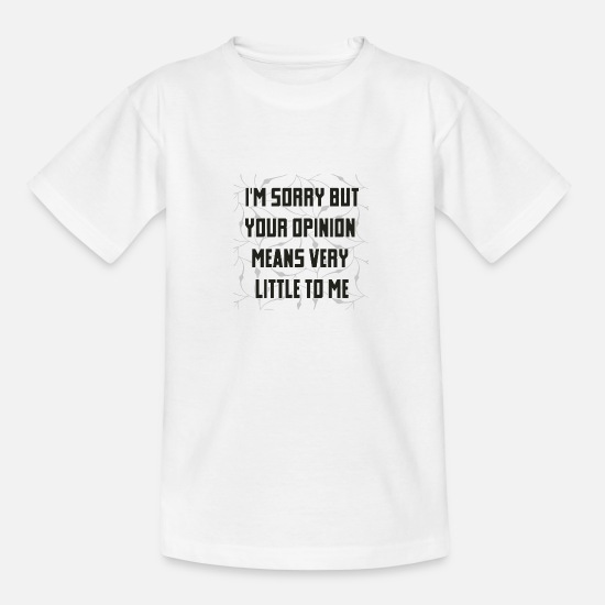 Birthday T-Shirts - comment - Teenage T-Shirt white