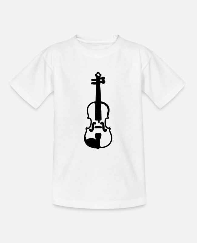 Music T-Shirts - violin - Teenage T-Shirt white