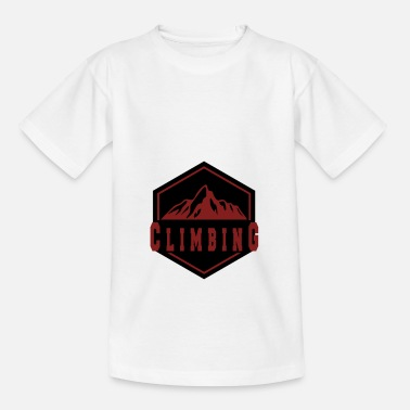 Mountain Climbing Climbing in the mountain - climbing in the mountains - Teenage T-Shirt