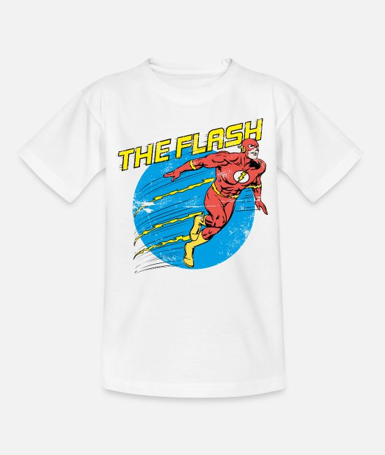 Justice T-Shirts - DC Comics Justice League The Flash - Teenager T-Shirt Weiß