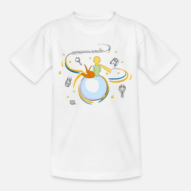 The Little Prince And Fox on Planet B612 - Teenage T-Shirt