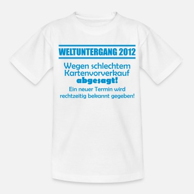 Doomsday 2012 - Ticket Sales - Teenage T-Shirt