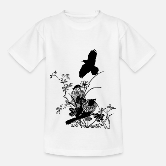 Gift Idea T-Shirts - Birds with birds of prey nature - Teenage T-Shirt white