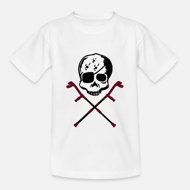 Crutches crutches skull - Teenage T-Shirt