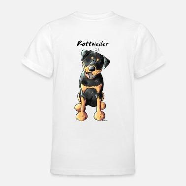 Rottweiler Buon Natale Babbo Natale-Baseball T-SHIRT COTONE