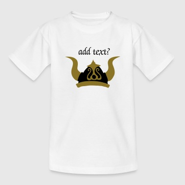 Gold Flex viking helmet - Teenage T-Shirt