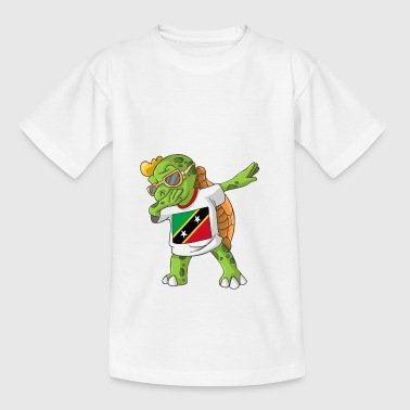 St. Kitts and Nevis Dabbing turtle - Teenage T-shirt