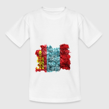 Mongolei Vintage Flagge - Teenager T-Shirt