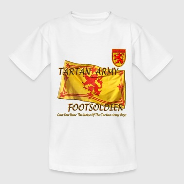 Tartan Army Footsoldier Football - Teenage T-shirt